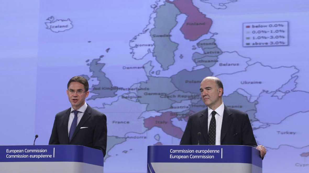 Bruselas rebaja a la mitad las previsiones de crecimiento de Alemania, Francia e Italia para 2015