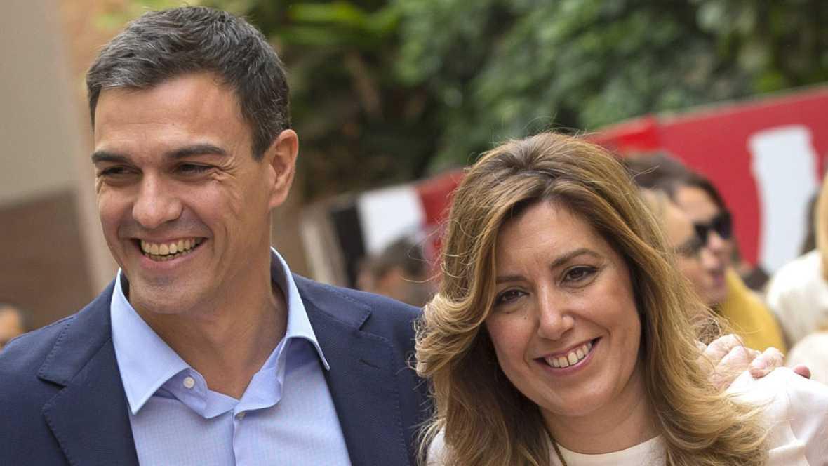 Pedro Sánchez y Susana Díaz juntos en un acto en Sevilla