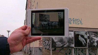 Una aplicación permite mirar al pasado del Muro de Berlín