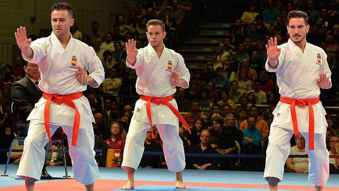 El equipo masculino español de kata se cuelga la medalla de oro