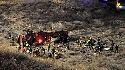 Un equipo especial de la Guardia Civil trabaja sobre el terreno para averiguar qué pudo pasar en el accidente de Cieza