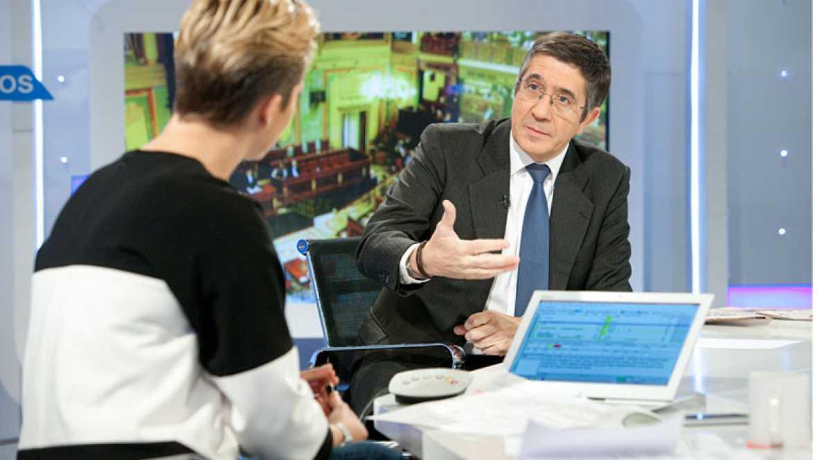 """Patxi López, secretario de Acción Política del PSOE: """"Quien gobierna, gobierna para los suyos, no para la mayoría"""""""