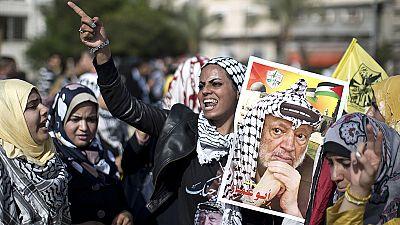 Los palestinos conmemoran el décimo aniversario de la muerte de Yasir Arafat