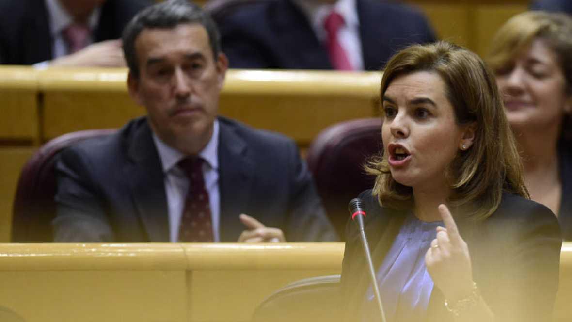 """Sáenz de Santamaría acusa al Govern de """"saltarse la ley con la excusa de la política"""""""