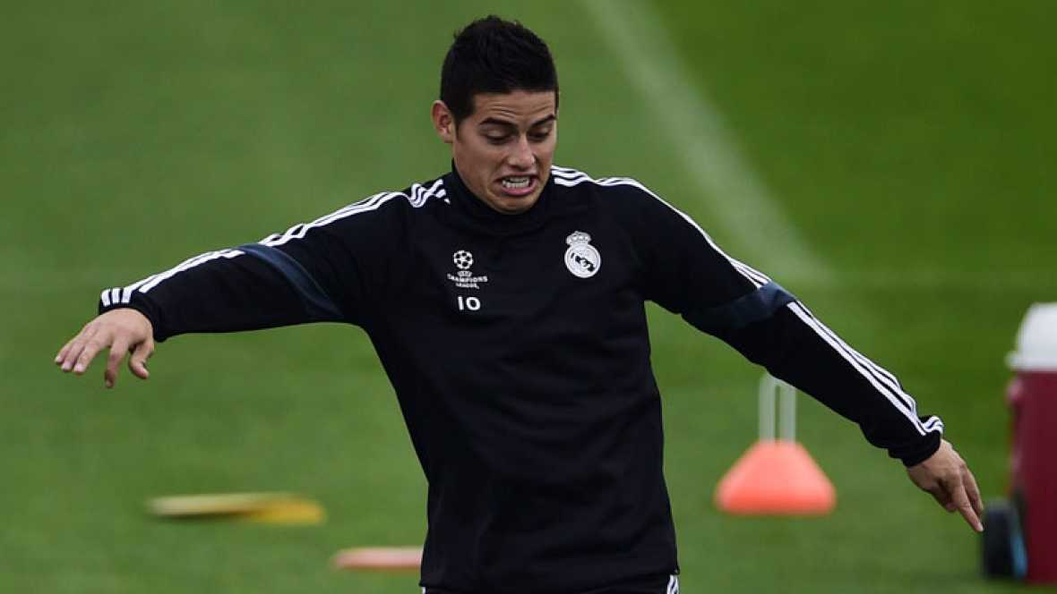 La selección de Colombia, tercera del ranking FIFA, jugará el primer partido después del Mundial ante Estados Unidos, en Londres. James, ídolo nacional, dice que juega mas cómodo en la posición del equipo nacional que en el Real Madrid.