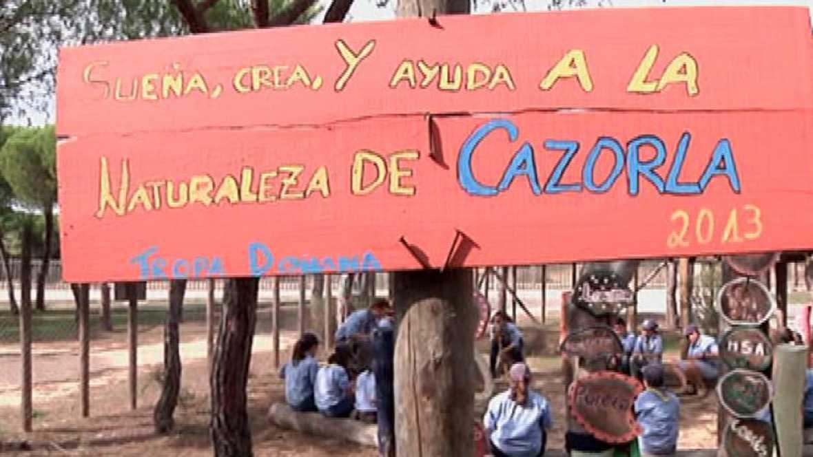 Scouts que cuidan la tierra en Doñana