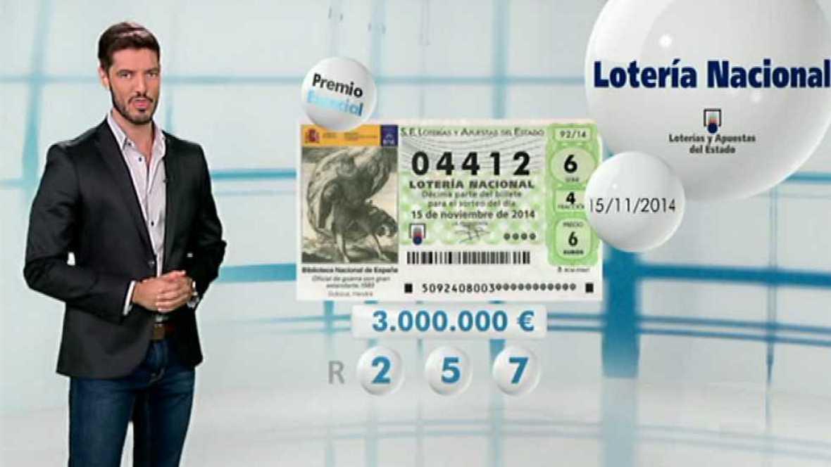 Lotería Nacional - 15/11/14 - Ver ahora