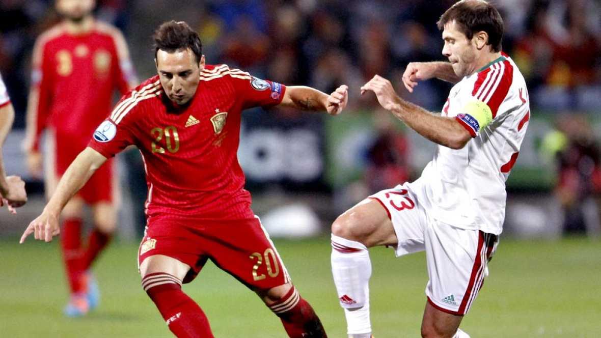 El centrocampista asturiano volvía a Huelva después de jugar un año en el Recreativo. Su entendimiento con Isco condujo a España a la victoria frente a Bielorrusia.