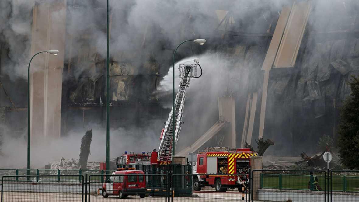 Un gran incendio destruye la planta de Campofrío en Burgos