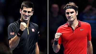 El tenista serbio Novak Djokovic y el suizo Roger Federer se medirán este domingo por el título de la Copa Masters 2014 después de superar este sábado las semifinales ante el japonés Kei Nishikori (6-1, 3-6, 6-0) y el también suizo Stanislas Wawrinka