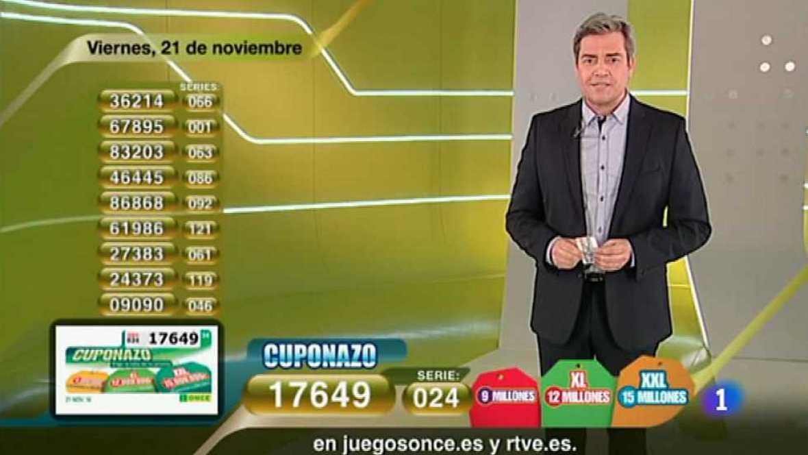Sorteo ONCE - 21/11/14 - Ver ahora