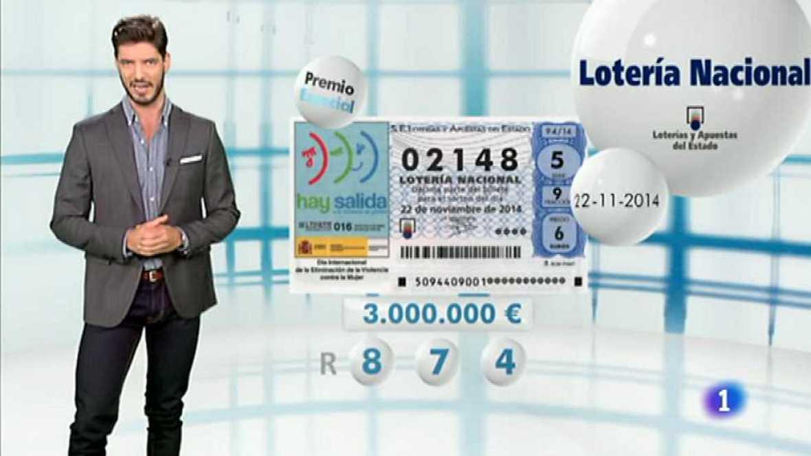Lotería Nacional - 22/11/14 - Ver ahora