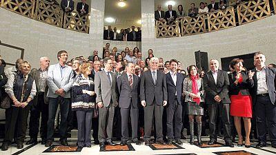 Acto institucional del Gobierno de Canarias contra las prospecciones petrolíferas