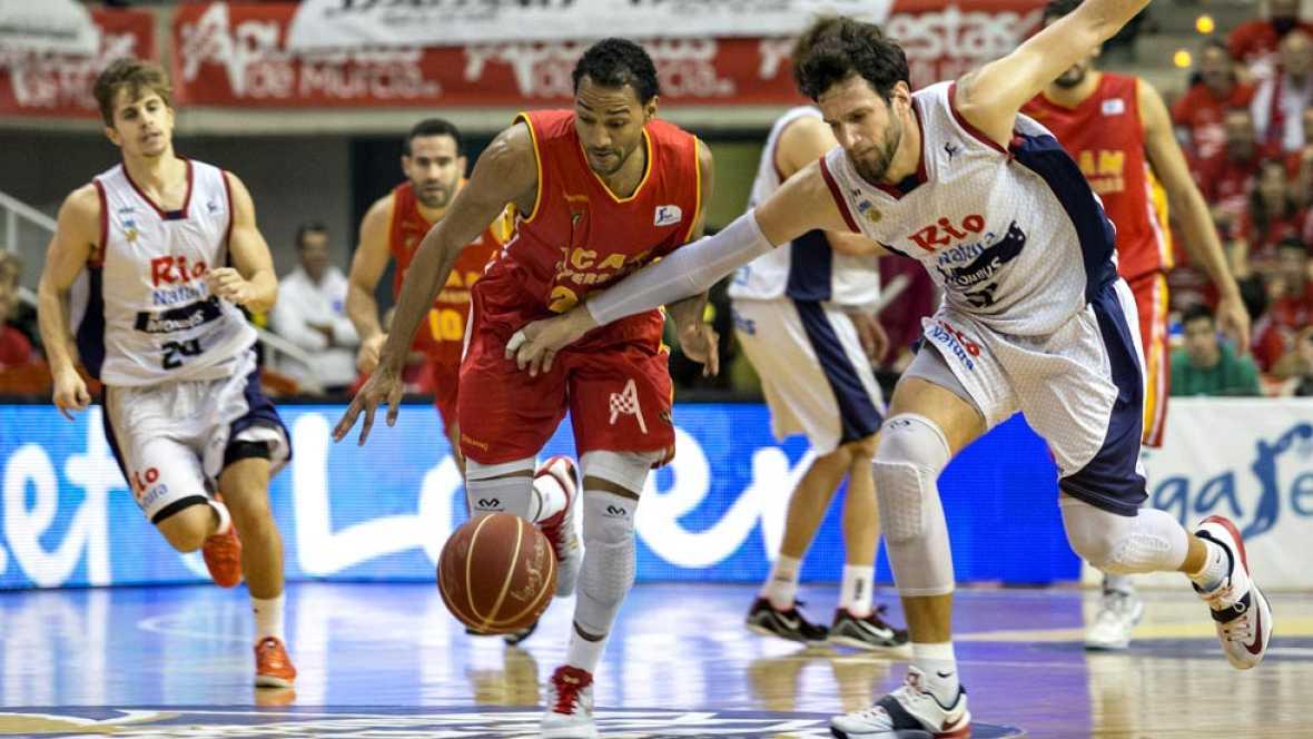 El Rio Natura Mobus Obradoiro llegó a remontar una desventaja de 21 puntos, pero el UCAM Murcia supo apretar los dientes y llevarse la victoria frente a un gran rival (68-64).