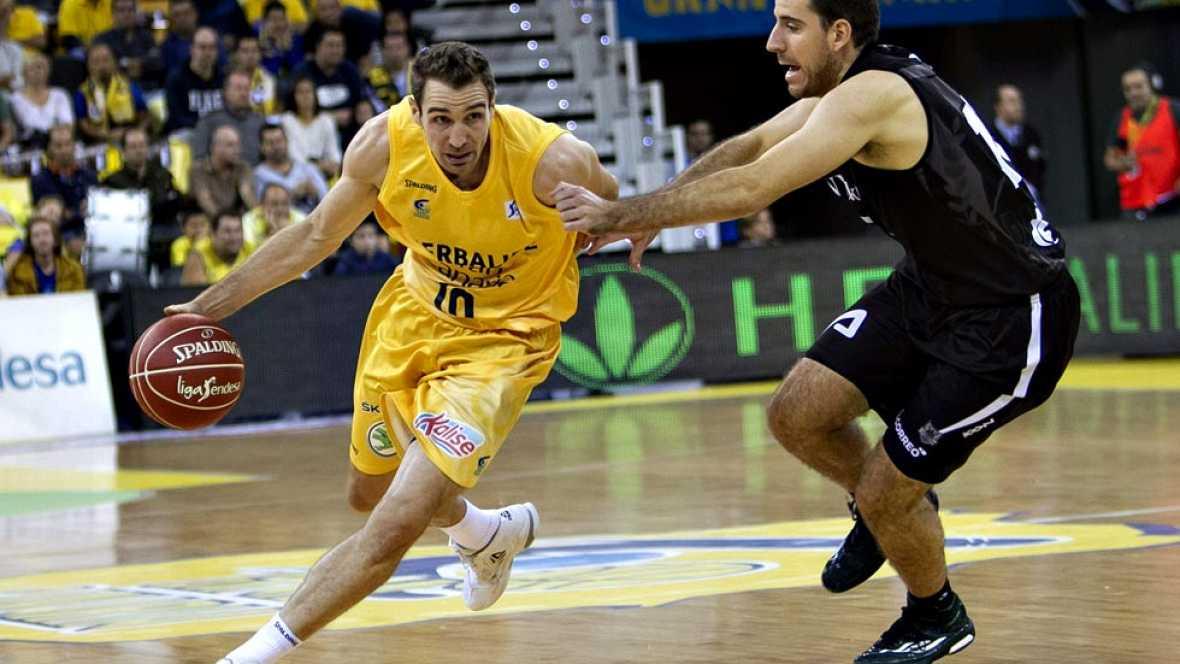 El Bilbao Basket rompió su racha negativa en la cancha del Herbalife Gran Canaria, al imponerse por 60-70. El acierto de Marko Todorovic y Dairis Bertans, clave en el triunfo del conjunto vasco.