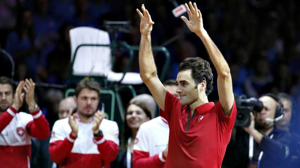 El tenista suizo Roger Federer no ha ocultado su satisfacción  después de conquistar este domingo la Copa Davis, aunque ha apuntado  que su alegría es por el tenis de su país, que se alzó con la  Ensaladera por primera vez en su historia, ya que para