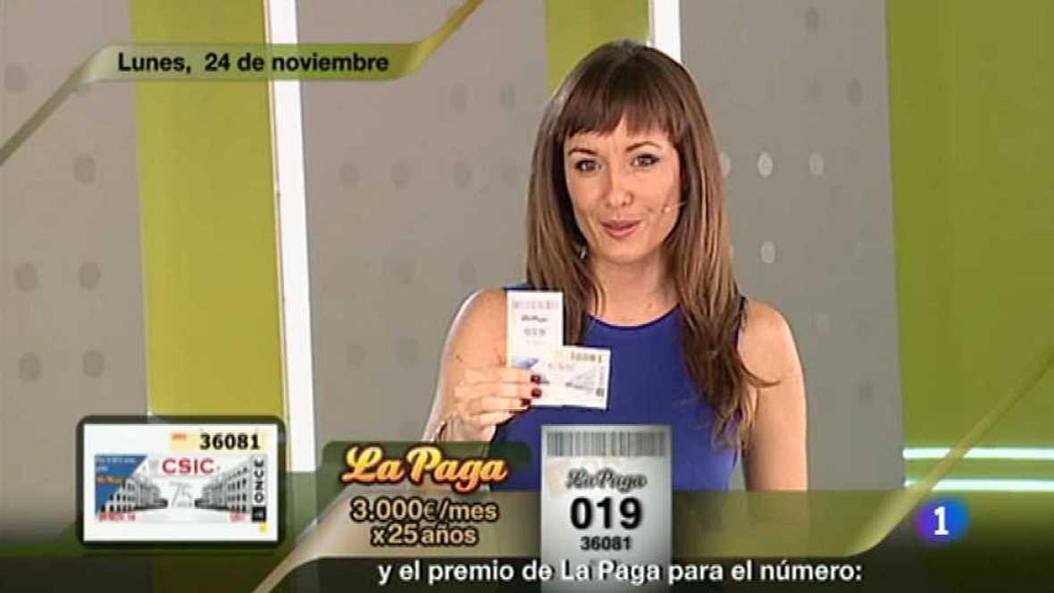 Sorteo ONCE - 24/11/14 - Ver ahora