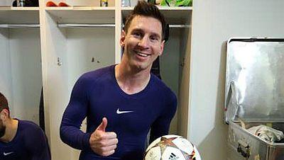Messi, contento con su récord goleador en Champions