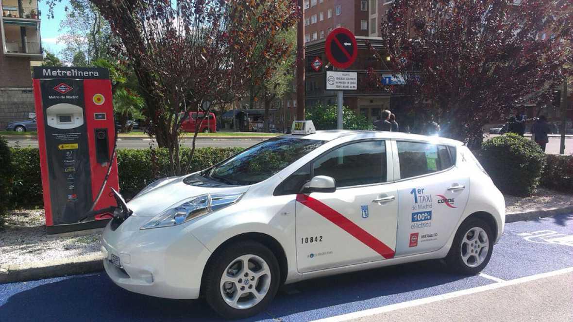 El primer taxi eléctrico de Madrid