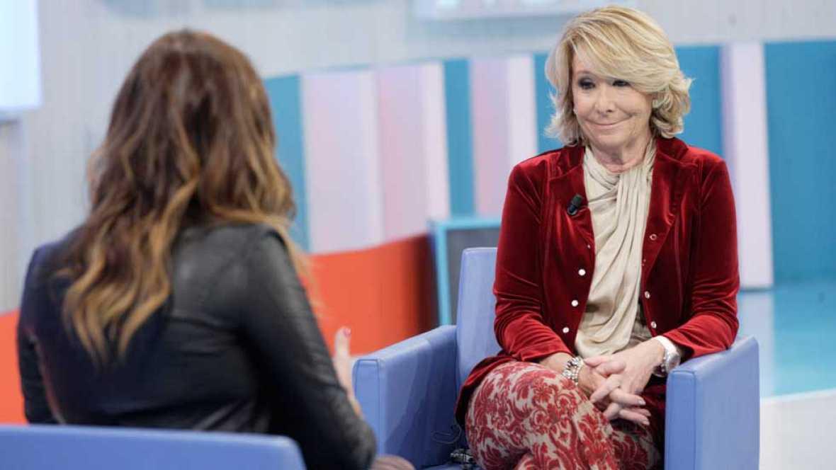 """Esperanza Aguirre en La mañana: """"Estoy fuera de la primera fila política aunque siga estando en la primera fila de las bofetadas"""""""