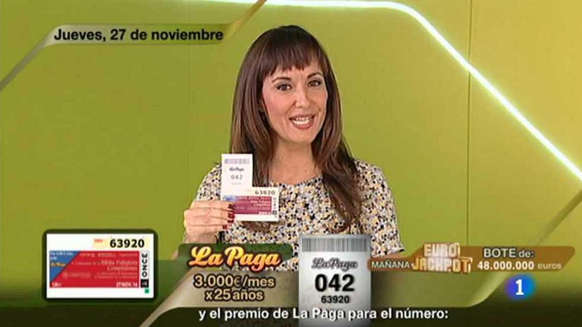 Sorteo ONCE - 27/11/14 - Ver ahora