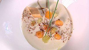 Cocina con Sergio - Crema de jamón con salteado de melón