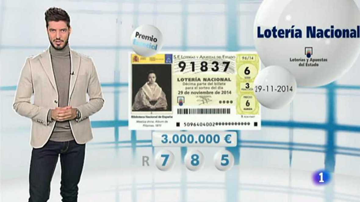 Lotería Nacional - 29/11/14 - Ver ahora