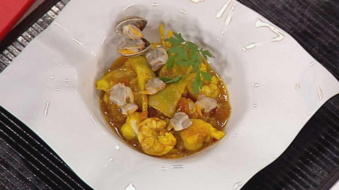 Cocina con Sergio - Zarzuela de marisco con alcachofas - ver ahora