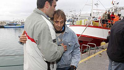 Continúa la búsqueda de los dos tripulantes del barco gallego desaparecido