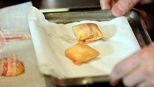 Pintxo: Huevo frito con patatas