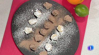 Trufas de bocado con chocolate blanco