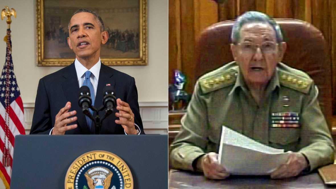 Obama y Castro anuncian el restablecimiento de relaciones entre EE.UU. y Cuba
