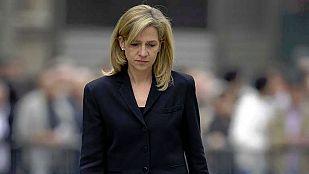 La infanta Cristina será juzgada como presunta cooperadora de dos delitos fiscales en Nóos