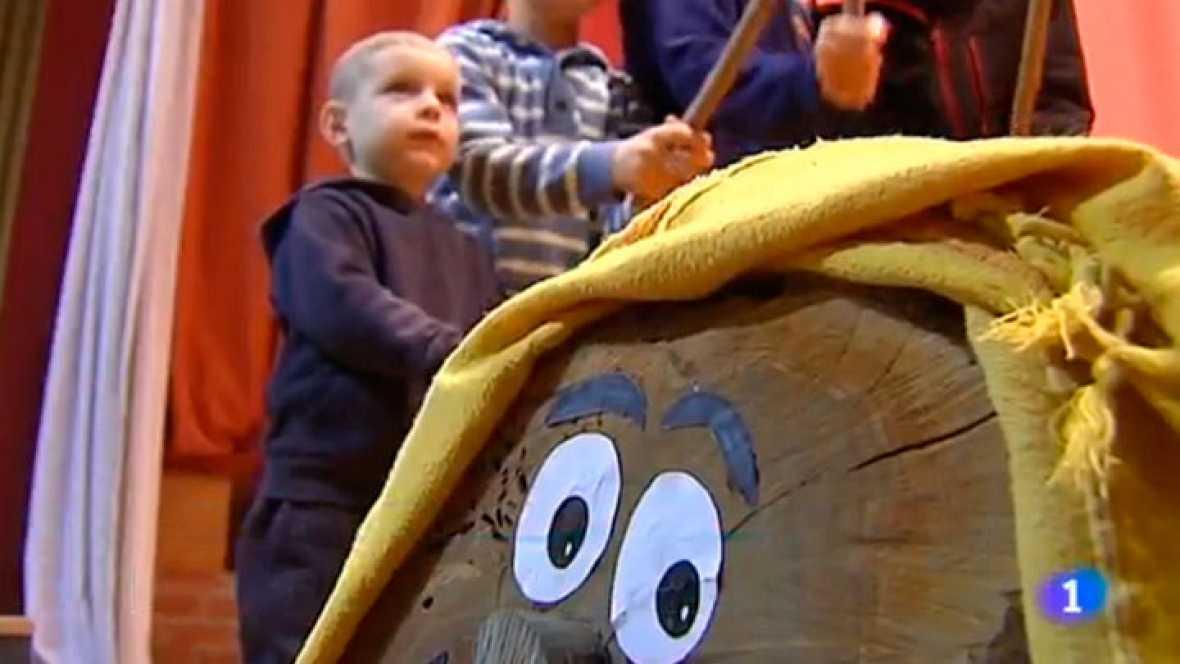 A l'Albesa avui molts nens ja han començat a fer cagar el tió