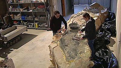 Paleontólogos catalanes y aragoneses han encontrado el fósil del titanosauro