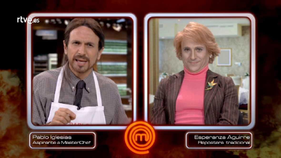 José Mota como Pablo Iglesias y Esperanza Aguirre