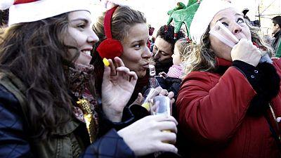 El frío va a reinar en casi toda España en el momento de las doce campanadas