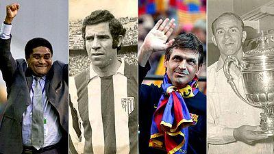 El 2014 ha sido un año triste para el mundo del fútbol. Exjugadores y entrenadores de renombre fallecieron a lo largo de año. Eusebio, Luis Aragonés, 'Tito' Vilanova y Di Stéfano dejaron un hueco imposible de llenar en el balompié.
