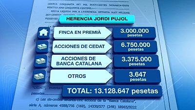 En el testamento del padre de Jordi Pujol no aparecía nada sobre el dinero que confesó haber ocultado
