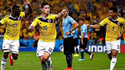 """Zúrich también ha elegido el mejor gol del año, el llamado premio """"Puskas"""". El colombiano James Rodríguez se ha impuesto con su tanto a Uruguay a la irlandesa Stephanie Roche y al holandés Robbie van Persie."""