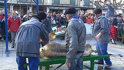 Hace 41 años que en El Burgo de Osma se celebra la fiesta de la matanza