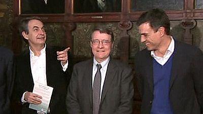 Zapatero y Sánchez coinciden en un acto y evitan saludarse en público