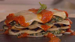 Cocina con Sergio - Lasaña de mejillones y espinacas