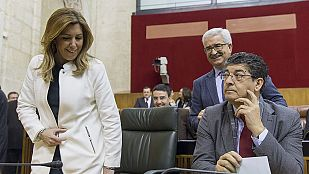 Susana Díaz anuncia la disolución del Parlamento para convocar las elecciones andaluzas el 22 de marzo