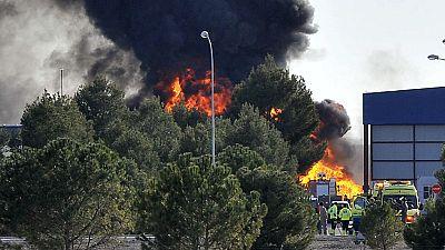 Diez muertos y 13 heridos al estrellarse un F-16 griego en la base aérea de Albacete