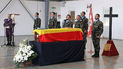 Rinden honores militares al español fallecido en un bombardeo en el Líbano