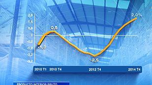 La economía española creció un 1,4% en 2014, su primer alza en seis años, según el INE