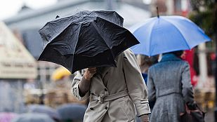 Cielo cubierto con precipitaciones en Galicia