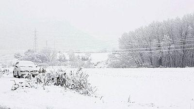 Una ola de frío deja prácticamente a toda España cubierta de nieve