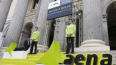 Aena se estrena con una subida del 12% y ocupa el puesto 21 por capitalización bursátil